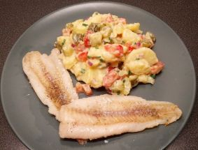 Coal Fish Fillet & Colorful Potato Salad