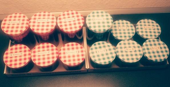 Homemade Strawberry, Blueberry & Plum Jam