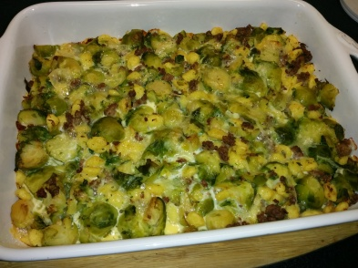Brussels Sprouts Spaetzle Casserole