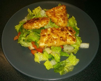 Cornflake Crusted Chicken & Salad